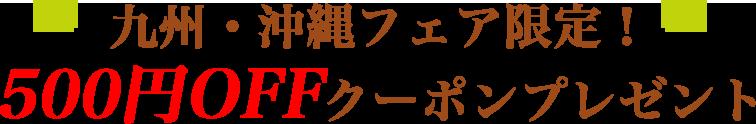 九州・沖縄フェア限定!500円OFFクーポンプレゼント