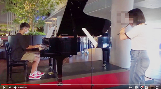 兄妹のピアノ&フルートのハーモニー♪